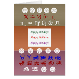 Zodiac Astrology Symbol : HappyBirthday Birthday Greeting Card
