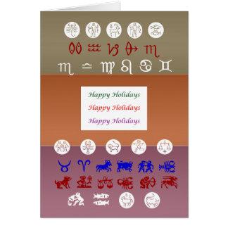 Zodiac Astrology Symbol : HappyHolidays Holidays Greeting Card