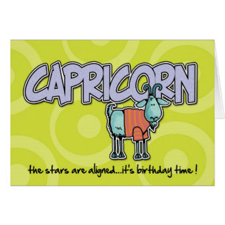 Zodiac Birthday - Capricorn Card
