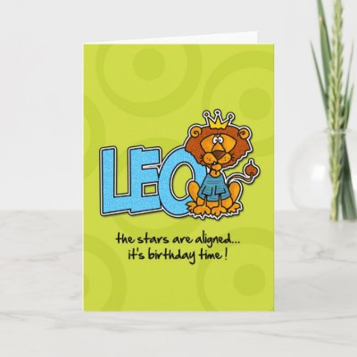Zodiac Birthday - Leo Greeting Cards | Zazzle.co.uk
