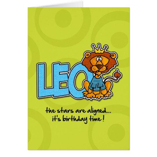 Zodiac Birthday - Leo Card