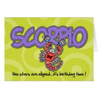 Zodiac Birthday - Scorpio Card
