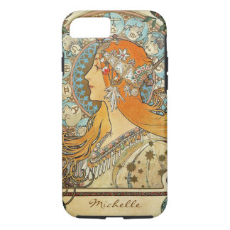 Zodiac by Alphonse Mucha Monogram iPhone 7 Case