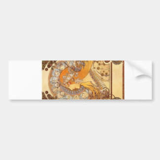 Zodiac by Mucha Bumper Sticker