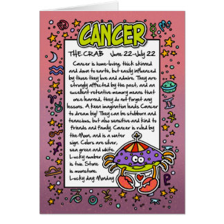 Zodiac - Cancer Fun Facts Card