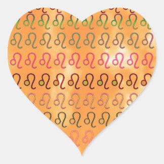 ZODIAC Cancer n Leo Symbol Pattern Heart Sticker