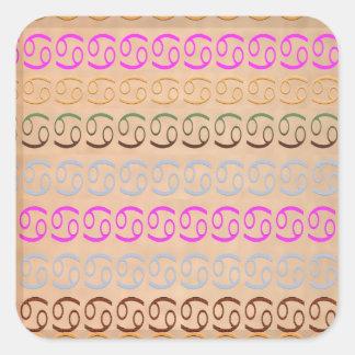 ZODIAC Cancer n Leo Symbol Pattern Square Sticker