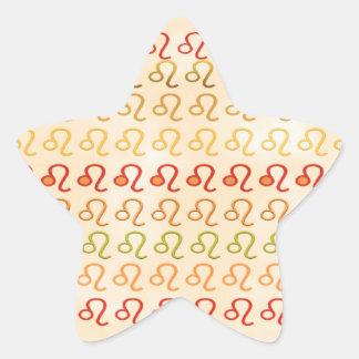 ZODIAC Cancer n Leo Symbol Pattern Star Sticker