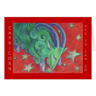 Zodiac Capricorn  'Happy Birthday' greetings card