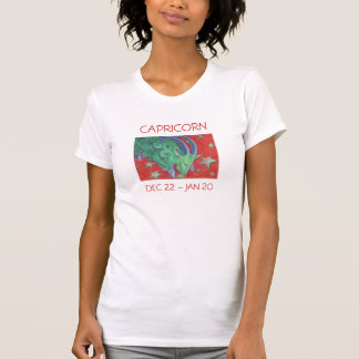 Zodiac Capricorn t-shirt ladies text