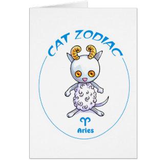 Zodiac Cats Aries Note Card