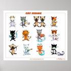 Zodiac Cats Starsigns poster