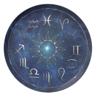 Zodiac Chart Plate