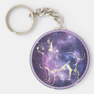 Zodiac Chihuahua Basic Round Button Key Ring