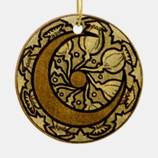 Zodiac Crescent Moon Christmas Ornament