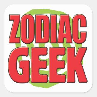 Zodiac Geek Square Sticker