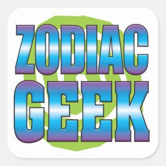 Zodiac Geek v3 Square Stickers