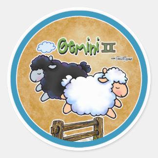 Zodiac - Gemini Classic Round Sticker