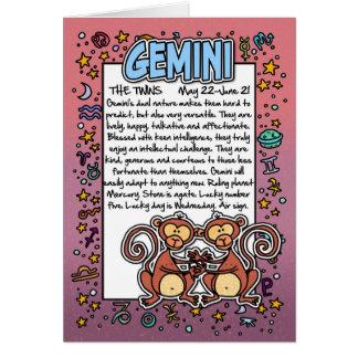Zodiac - Gemini Fun Facts Cards