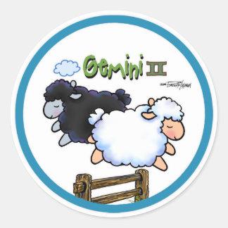 Zodiac - Gemini Round Sticker