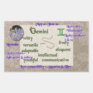Zodiac Gemini sticker