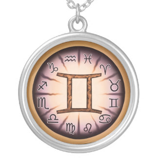 Zodiac Gemini symbol Necklace