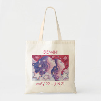 Zodiac Gemini tote bag text