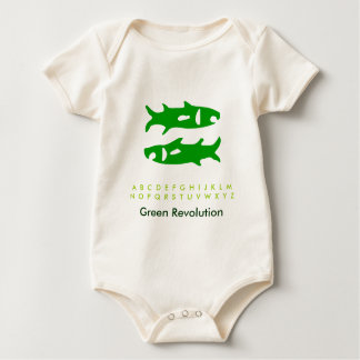 Zodiac Green Fish Bodysuit
