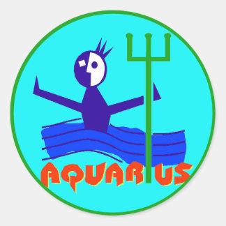 Zodiac Horoscope Astrology Sign Aquarius Stickers