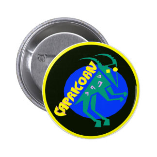 Zodiac Horoscope Astrology Sign Capricorn Button