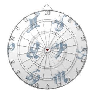 Zodiac Horoscope Icon Set Dartboard