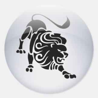 Zodiac Leo Classic Round Sticker