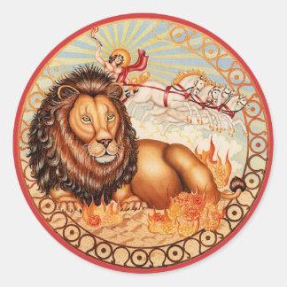 Zodiac Leo - Customize it! Classic Round Sticker