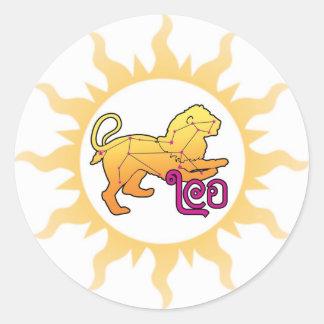 Zodiac Leo Sun Classic Round Sticker