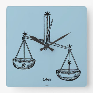 Zodiac: Libra, 1482 Square Wall Clock