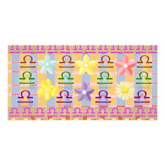 Zodiac LIBRA:  GOODLUCK Designs Personalized Photo Card