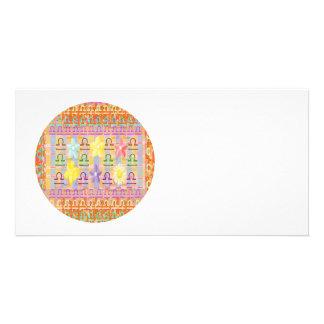 Zodiac LIBRA:  GOODLUCK Designs Photo Card Template