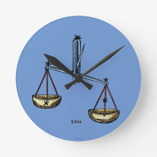 Zodiac: Libra In Color Round Clock