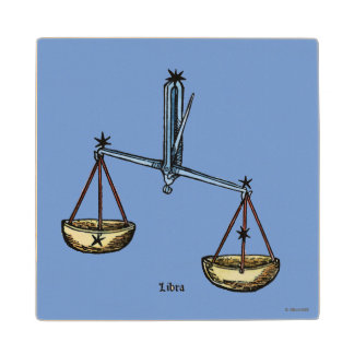 Zodiac: Libra In Color Wood Coaster