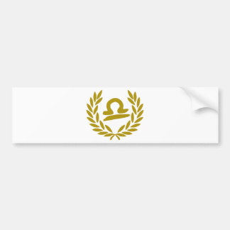 zodiac-libra-laurel bumper sticker