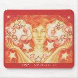 Zodiac Libra mousepad dates