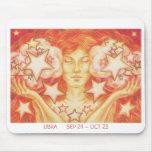 Zodiac Libra mousepad white border