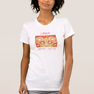 Zodiac Libra t-shirt ladies text