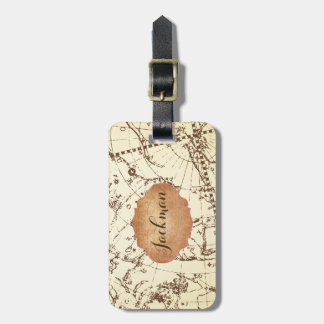 Zodiac Map with Frame for Name - Personalize Luggage Tag