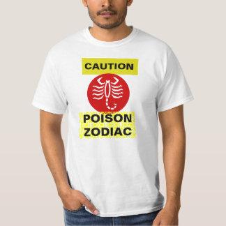 Zodiac Message Tshirt scorpio Value T-Shirt white