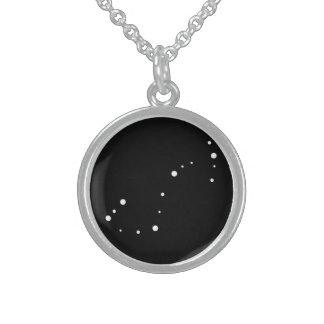 Zodiac Necklace: Scorpio Round Pendant Necklace