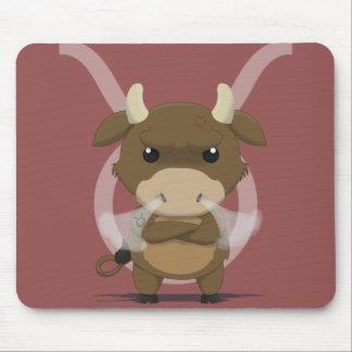Zodiac Pals - Taurus Bull Sign Mouse Pad