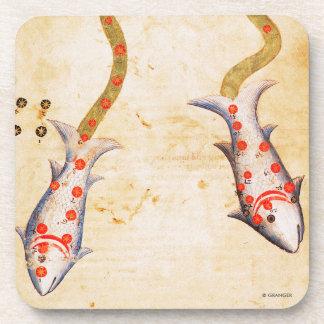 Zodiac: Pisces, C1350 Beverage Coasters