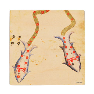 Zodiac: Pisces, C1350 Wood Coaster