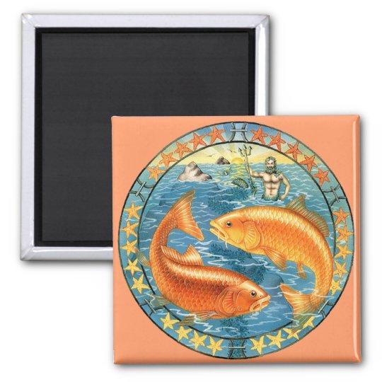 Zodiac Pisces - Customise it! Square Magnet